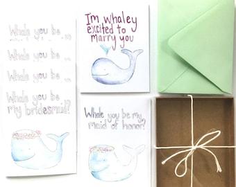 nautical wedding card, bridesmaid proposal, will you be my bridesmaid, nautical bridesmaid, set of bridesmaid cards, maid of honor card