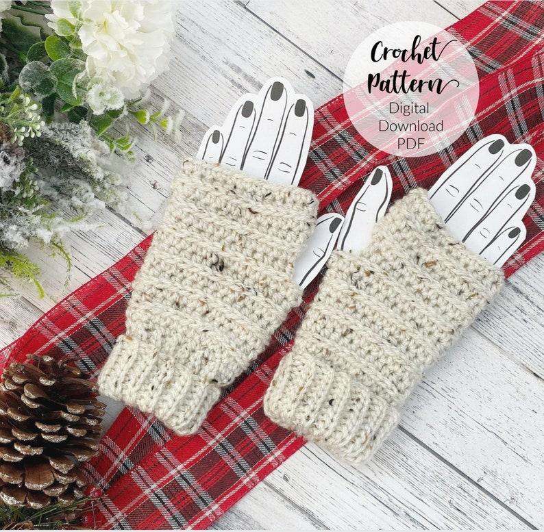 Crochet Fingerless Gloves Pattern Crochet Pattern Crochet image 0
