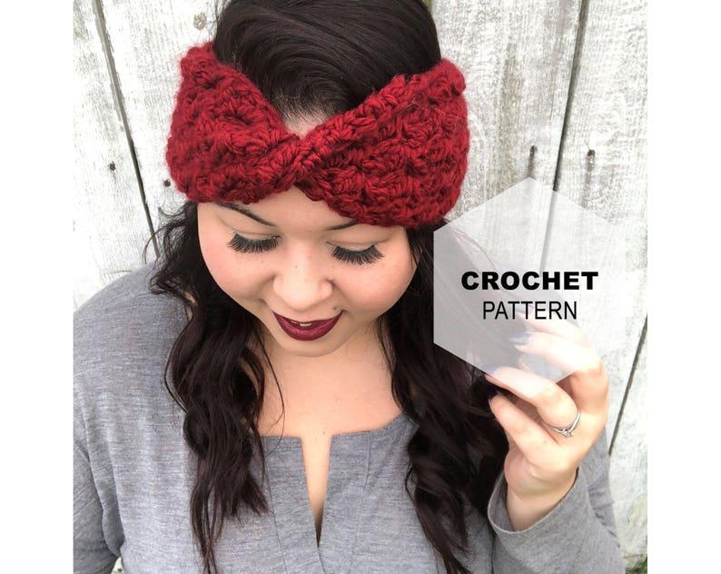 Crochet Headband Pattern Crochet Pattern Twisted headband image 0