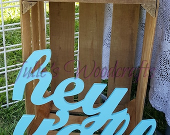 Southern Summer Hey Y'all wooden sign farmhouse hello