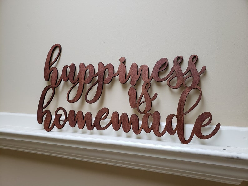 Happiness is Homemade Wooden Sign Kitchen Farmhouse