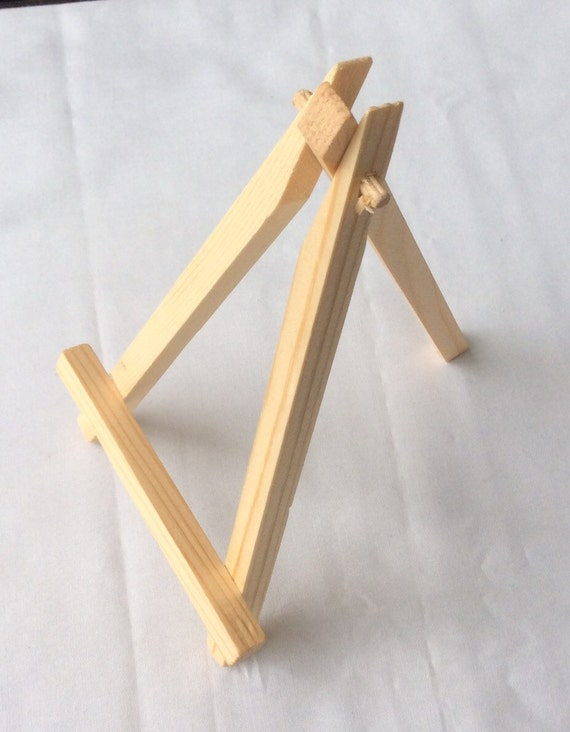 natural wood easel display stand etsy