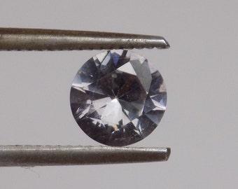 Natural spinel gemstone, Steel blue spinel, .81 ct round gemstone,