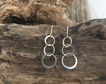 Circles sterling silver earrings