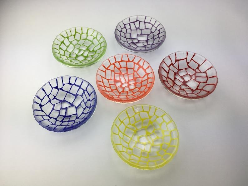 Glass candy bowl   Glass trinket dish  Glass nut dish  image 0