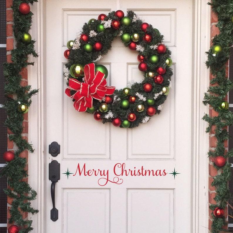 Christmas Door Decal Christmas Door Decorations Christmas Door Sign Holiday Door Decorations Christmas Front Door Decor