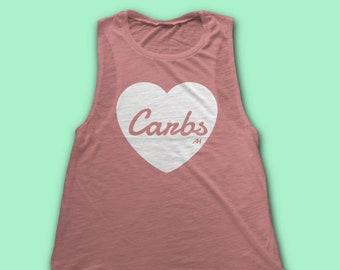 fe2bdb9f9 Workout Tank Women I HEART CARBS Womens Muscle Tank - Tank Tops for Women -  Workout Tank - gym shirts