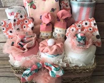2076a616b7f04 Baby girl gift basket welcome baby gift basket corporate baby gift baby gift  sprinkle gift baby girl shower gift newborn girl