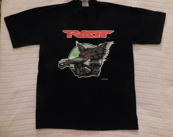 ef6876f140eb Vintage Ratt New Never Worn Back For More 1997 Tour Large Q Tees Black