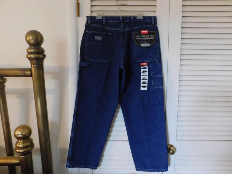 63af0732 Vintage Mens Wrangler Hero Silver Edition Carpenter Jeans   Etsy