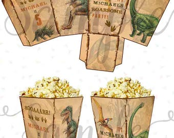 DINOSAURS POPCORN BOXES