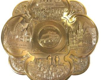 Plate Medieval Bavarian Castles Mix Metal Cast