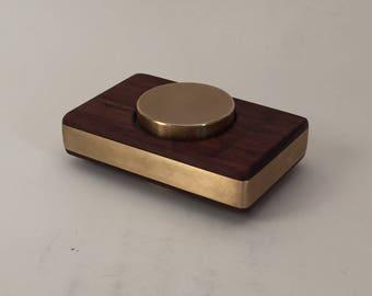 Fidget Spinner in Granadillo and Brass