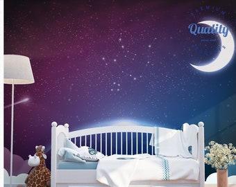 Night Sky Wallpaper Etsy