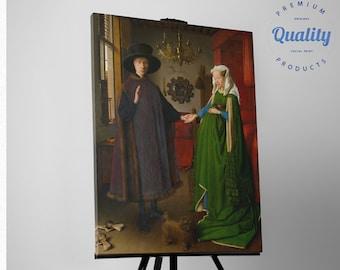 The Arnolfini Portrait by Jan van Eyck, Canvas Print Reproduction / FREE SHIPPING / fine art gallery print Artwork Giclee decor canvas art