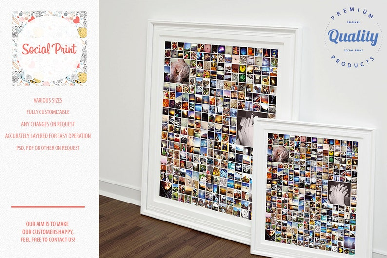 Instant Download 365 Photo Poster Grid Indesign Photo Poster Etsy