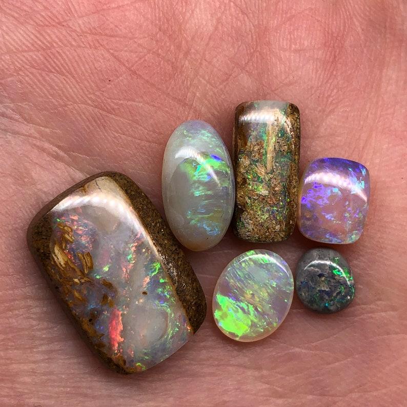 Natural Australian crystal pipe opal lot; Wood replacement opals; Australian opal parcel