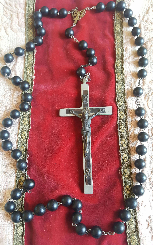 Large Antique Spanish Rosary Wall Rosary Catholic Jewelry