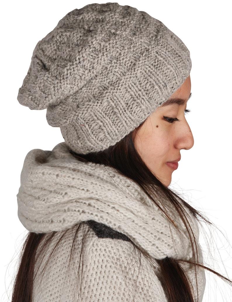 c50138172ac Winter Beanie Slouchy Hat Wool Hat Women Winter Hat Hand