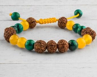 Chakra Bracelet, Rudraksha Bracelet, Energy Bracelet, Healing Bracelet, Meditation Beads, Yoga Mala