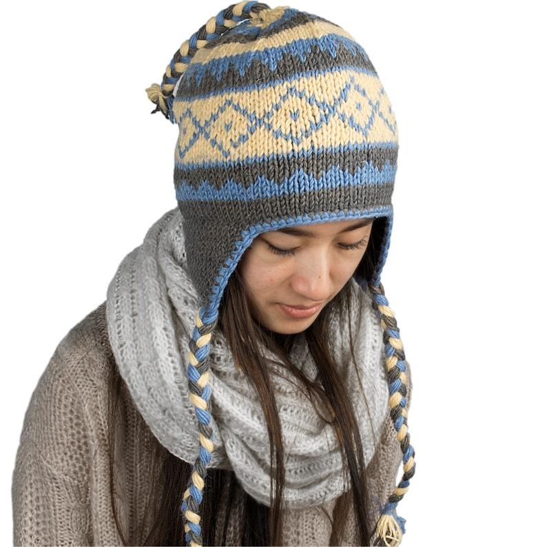 2ec7d3d2e39 Warm Winter Hat, Wool Hat, Knitted Winter Hat, Woman Winter Hat, Slouchy  Hat, Felt Wool Hat on the inside