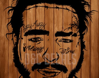 Drawing Post Malone Vector