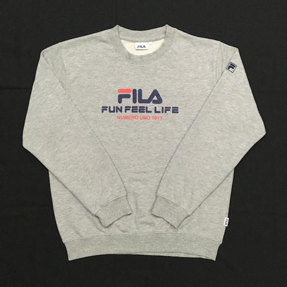 Vintage 90s Fila Sweatshirt Fila Sweater Crewneck