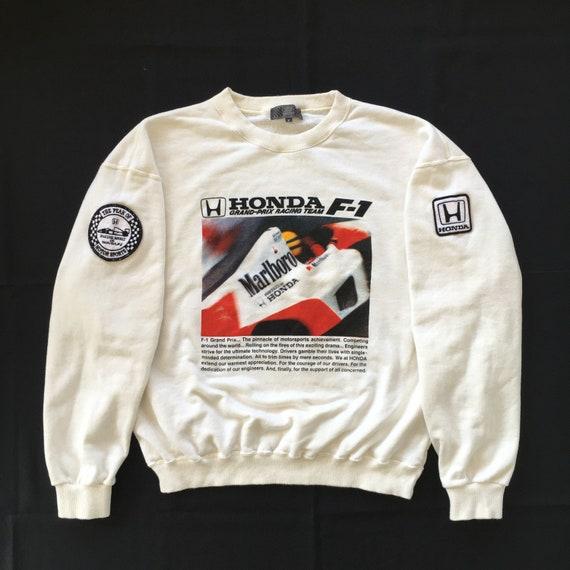 RARE Vintage Honda Grand Prix F1 Racing Team Sweatshirt Ayrton Senna Photographic Suzuka Japan Formula 1 Philosophy By Honda F1 Collection