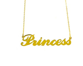 Personalised Carrie Style Name Necklace-18K Gold Plated 925 Sterling Silver-Choose any name-Birthday,Bridesmaids,Valentines Day gift