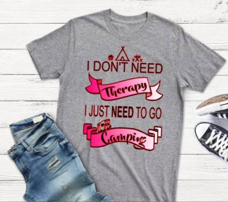 4dae2e16d I dont need therapy I just need to go camping watercolor t | Etsy