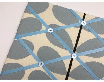 Orla Kiely powder blue stem fabric noticeboard