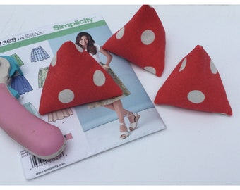 Cath Kidston red spotty sewing weights