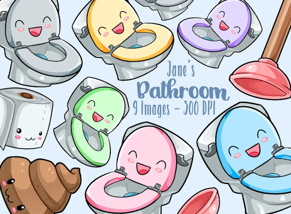 Colorful Children Toilets Toddler Potty Trainer Download Kawaii Design Download Kawaii Potty Training Clipart