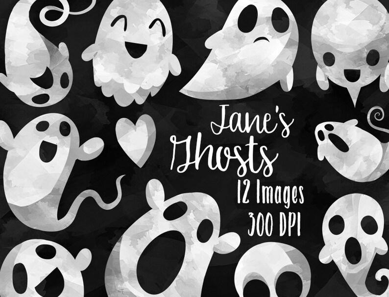 Halloween Artikelen.Aquarel Geesten Clipart Halloween Artikelen Download Directe Download Spooky Ghosts Gelukkig Ghosts