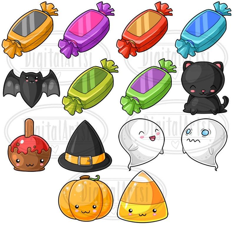 Kawaii Halloween Clipart Spooky Descargar Kawaii Design | Etsy (794 x 772 Pixel)