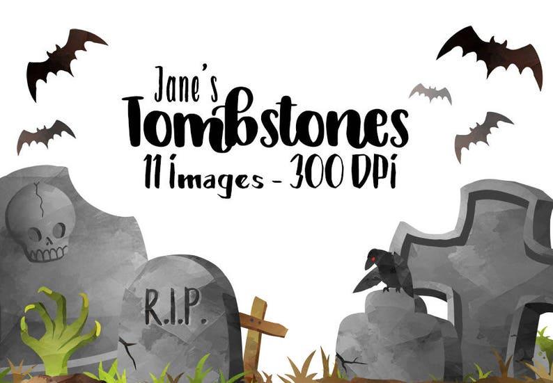 Halloween Artikelen.Aquarel Grafstenen Clipart Halloween Artikelen Download Directe Download Spooky Grave Markers Zombie Hand