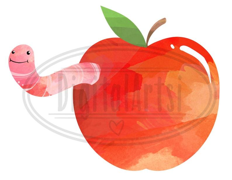 Pie Pomme Download Instant Download Teachers Day Basket Fruit Watercolor Apples Clipart Wheel Barrow Apple Tree