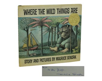 Where the Wild Things Are ~ SIGNED by MAURICE SENDAK ~ First Edition ~ 1st 1963