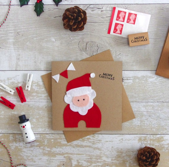 Personalised santa card kids christmas cards cute childrens etsy image 0 m4hsunfo
