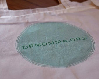 DrMomma Peaceful Parenting Canvas Grocery Tote Bag