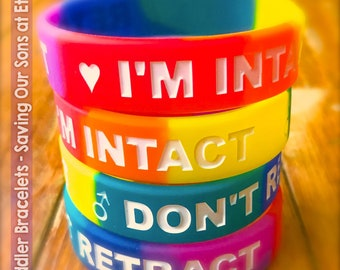 I'M INTACT - DON'T RETRACT Rainbow Toddler & Baby Bands