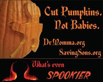Cut Pumpkins / Halloween Intact Info Cards