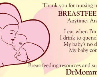 Thank You For Breastfeeding (Pink) Info Cards
