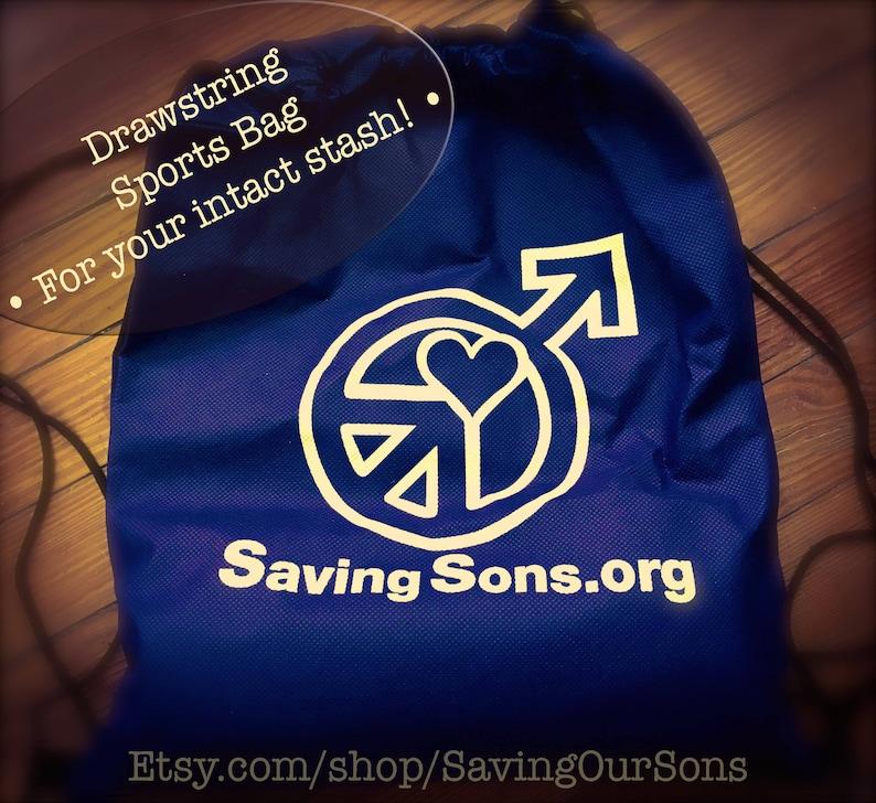 Saving Sons Drawstring Sports Pack Backpack image 0