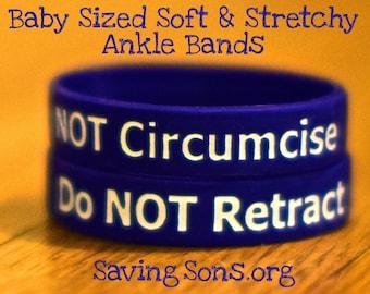 Do NOT Retract / Do NOT Circumcise Intact Baby Bands