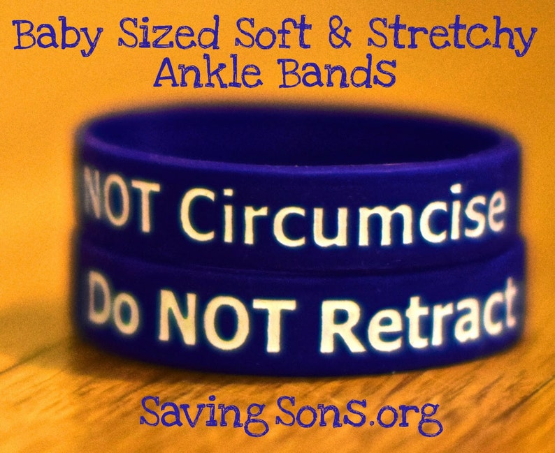 Do NOT Retract / Do NOT Circumcise Intact Baby Bands image 0
