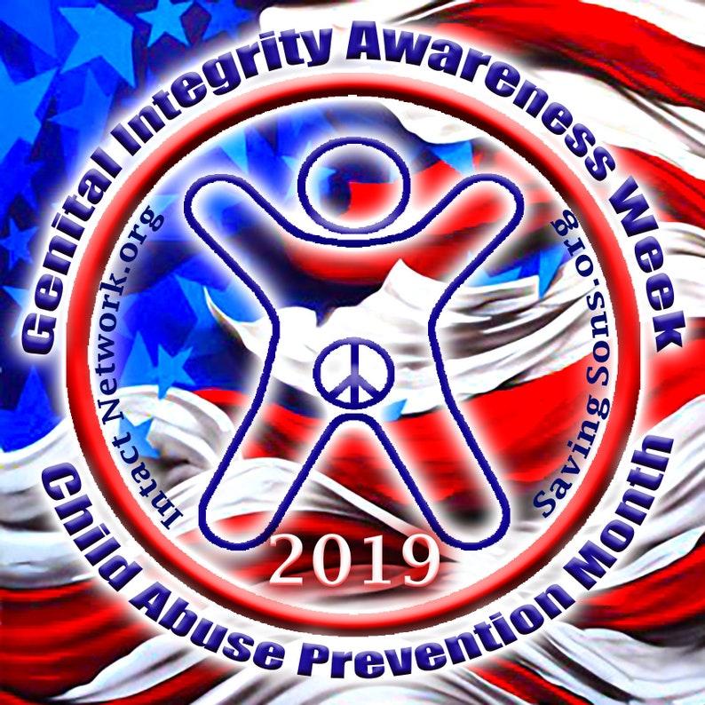 Genital Integrity Awareness Week 2019 Vinyl Decals image 0