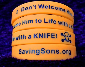 Don't Welcome Him to Life with a KNIFE! Bracelets