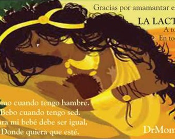 Spanish / English Thank You For Breastfeeding Info Cards