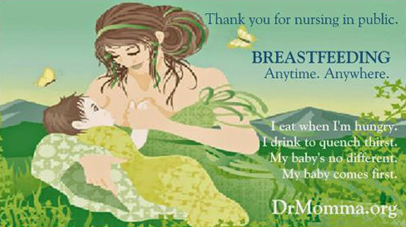 Thank You For Breastfeeding With Laws Info Cards image 0
